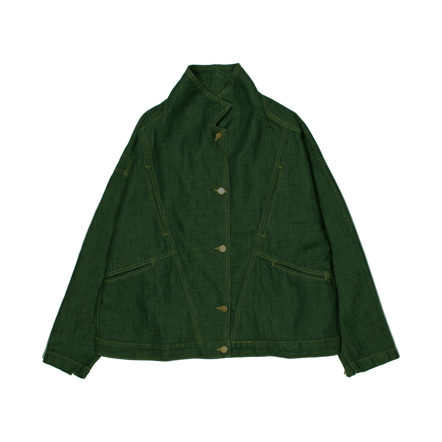 Spiritualized Denim Jacket •  Deep Pine