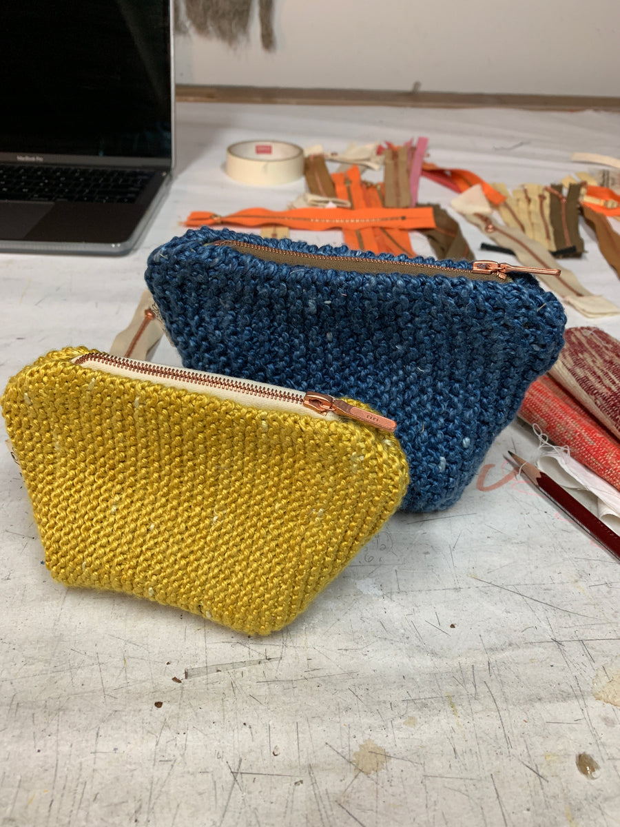 Hand Knit Pouch