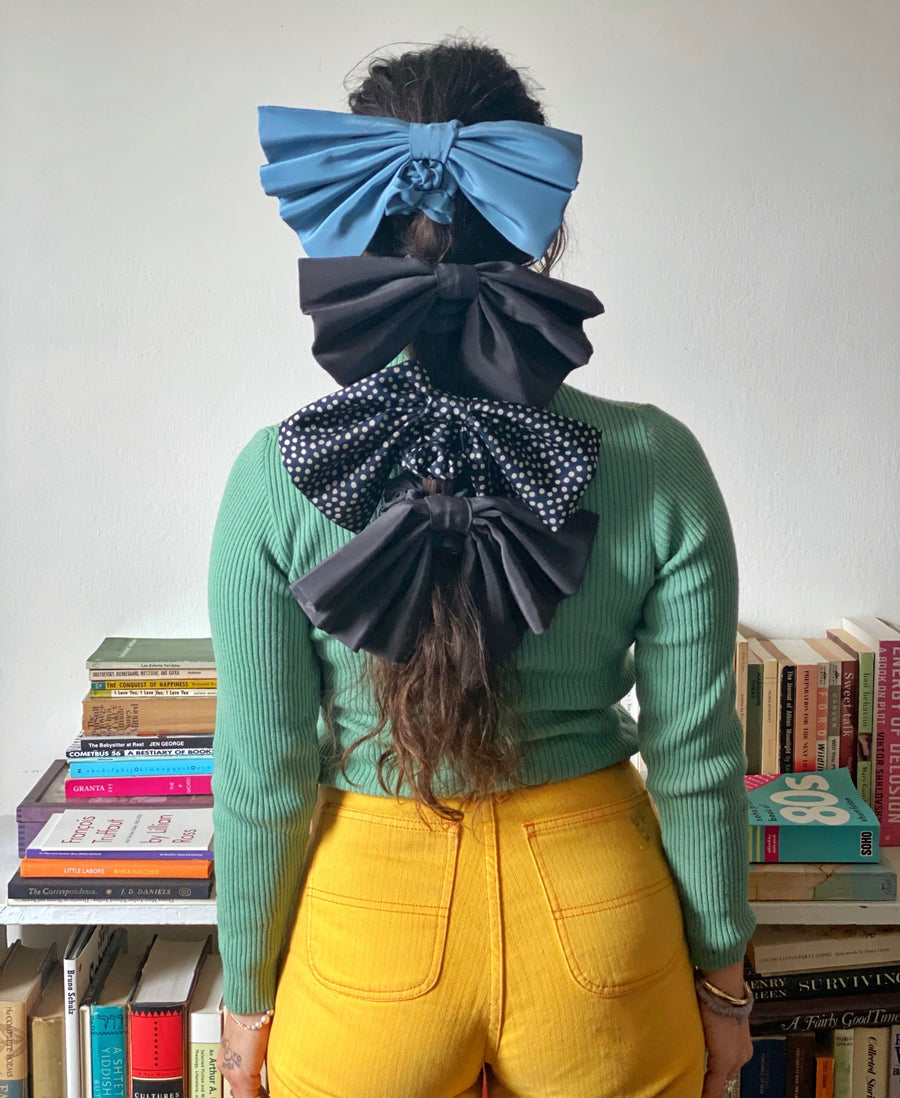 Giant Bow Silk Scrunchi