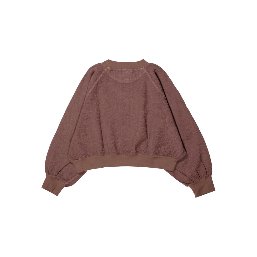 Linen Rayon Cropped Pullover • SUMAC
