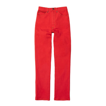 High Waisted Judi Jean  •  Stretch Poppy Red