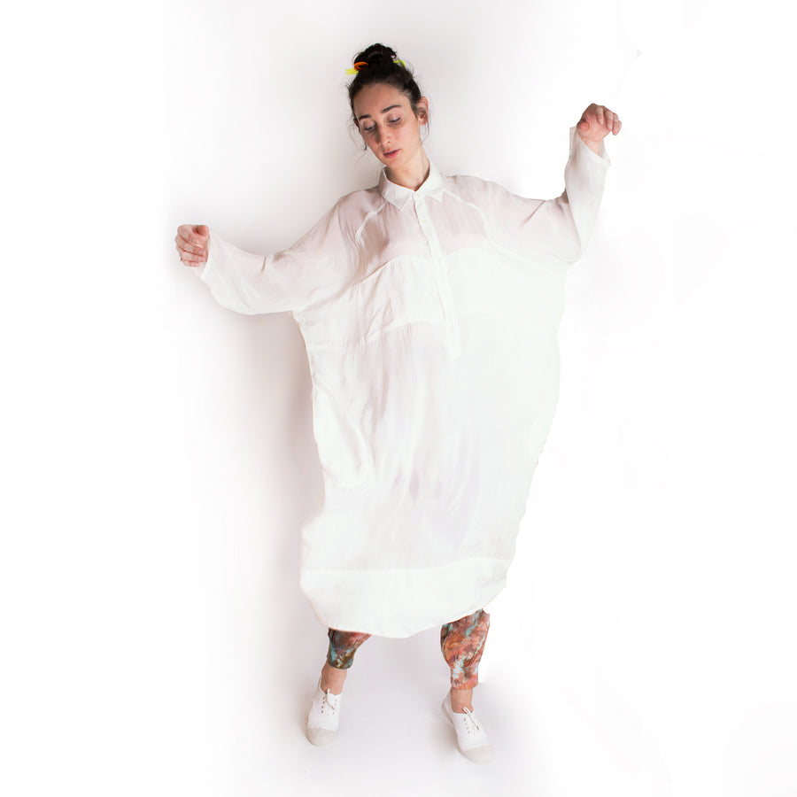 Giant Shirt Dress • WHITE