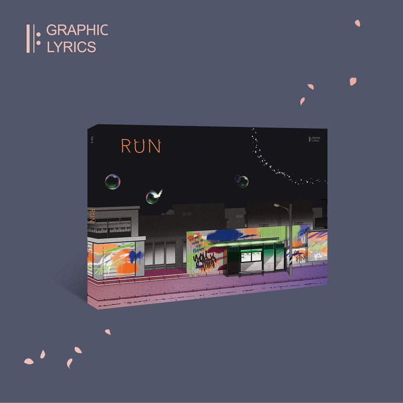 BTS | 방탄소년단| Graphic Lyrics | Run [ Vol . 4 ]