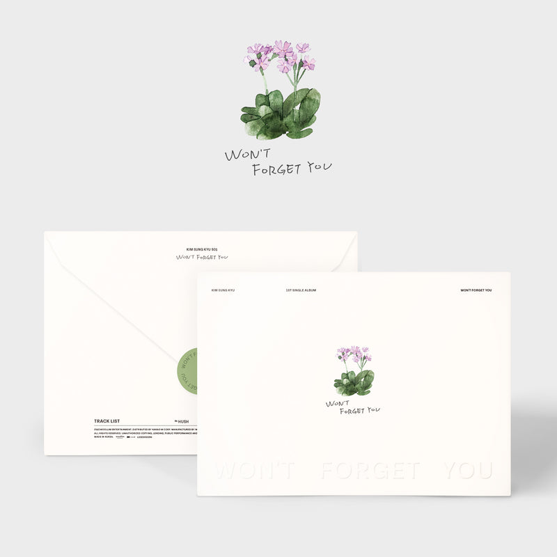 KIM SUNGKYU | 김성규 | Single Album [Won't Forget You]