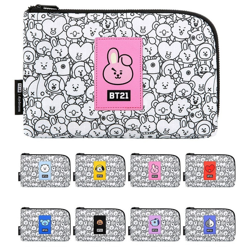 BT21 | OFFICIAL BT21 X MONOPOLY CABLE POUCH (4525868548174)
