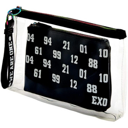 EXO | 엑소 | WE ARE ONE CLUTCH WITH MAKE UP BAG & KEYCAHIN