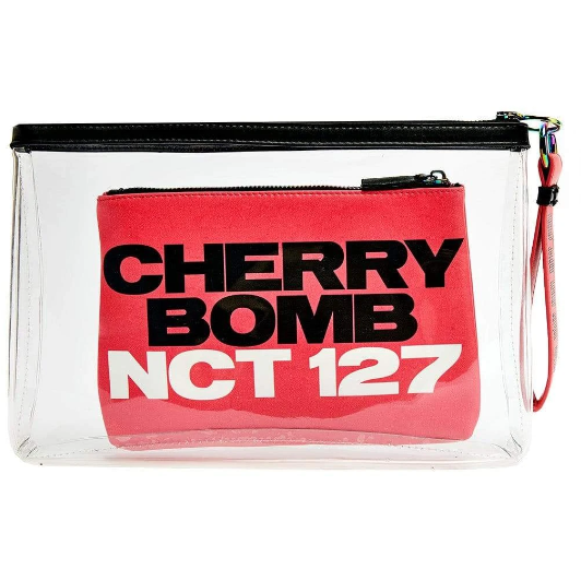 NCT 127 | 엔시티127 | CHERRY BOMB CLUTCH WITH MAKE UP BAG & KEYCHAIN