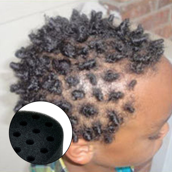 Ellipse Hair Twist Sponge Magic Double Sides Black People Braider Fir Afro Dreadlocks Curl Brush Coil Wave Hair Style Tool