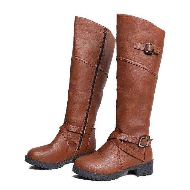 Leather Over-the-knee Women Boots