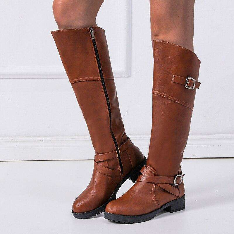 Retro Buckle - Woman Fashion Winter Boots
