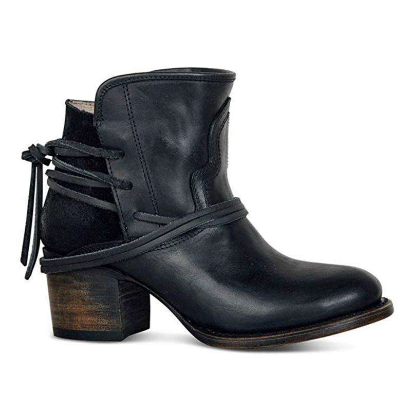 2019 Boots Women Leather Shoes For Winter Boots Shoes Woman Casual Spring botas mujer Female Ankle Ladies botas