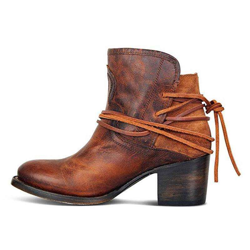 Leather Boots For Fall - Woman Fashion Autumn Boots