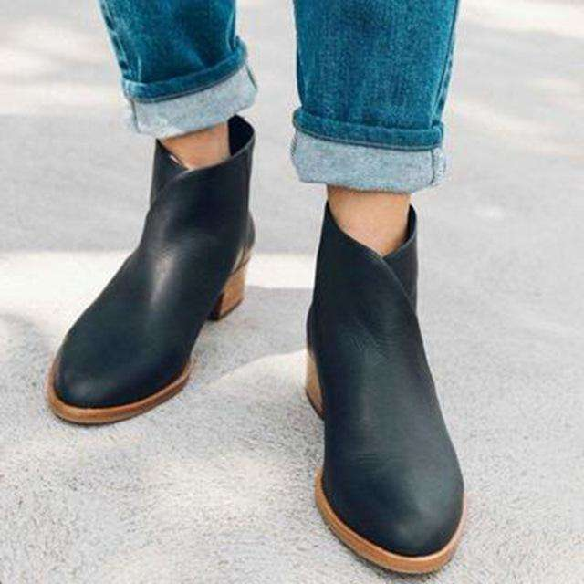 2019 Boots Women Suede Leather Luxury Ankle Boots Original Female Casual Shoes British Style Winter  Boots Drop shipping