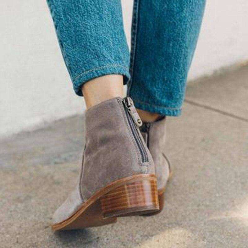 British Style Ankle Length - Woman Fashion Winter Boots
