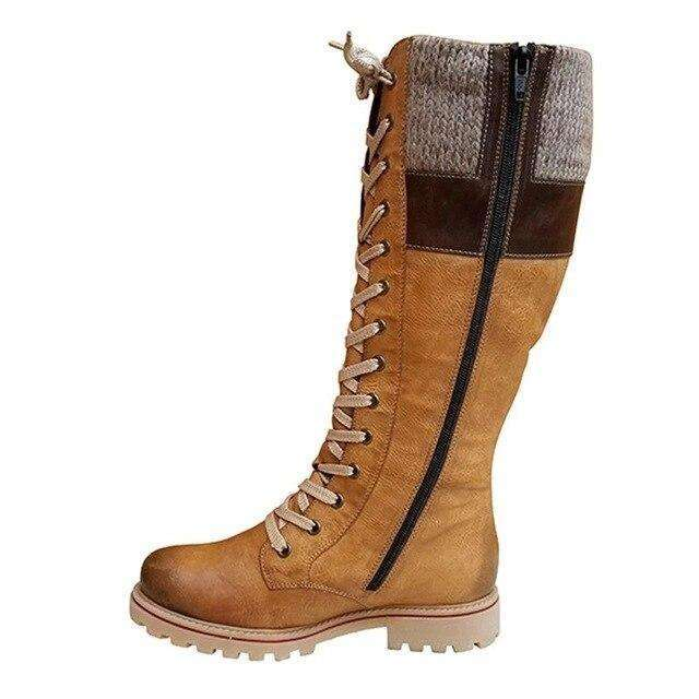 2019 British Boots Warm Winter Shoes Waterproof New Fashion Shoes Mid-calf Boots For Women Sewing Non Slip Botas Mujer Invierno