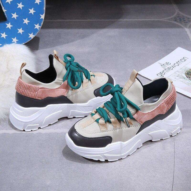 2019 Fashion Autumn Women Casual Shoes Comfortable Platform Shoes Woman Sneakers Ladies Trainers Chaussure Femme ShoeMeHoney