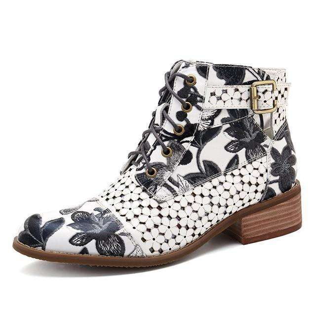 Floral Print For Dancing Party - Woman Fashion Winter Boots