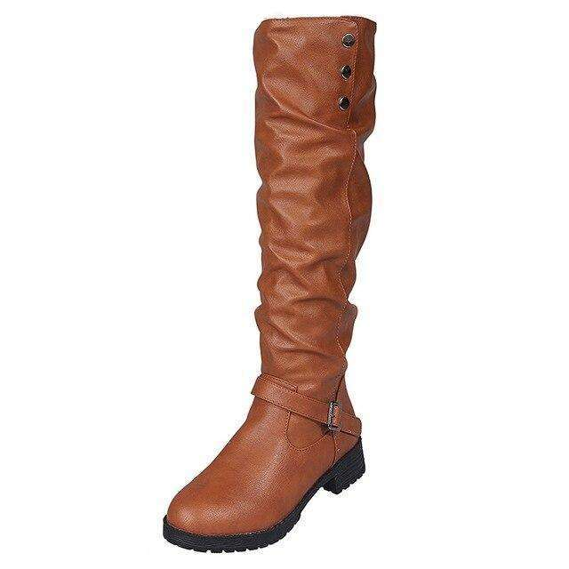 Round Head Long - Woman Fashion Winter Boots