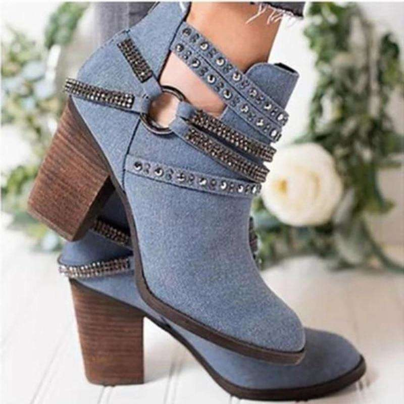 Motorcycle British Style Ankle Boots