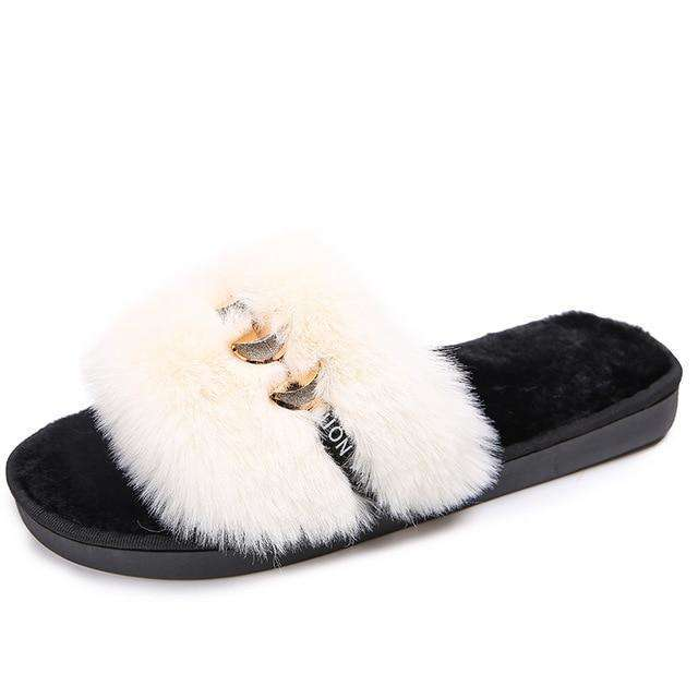 Fluffy Flip Flops For Outdoor Fashion