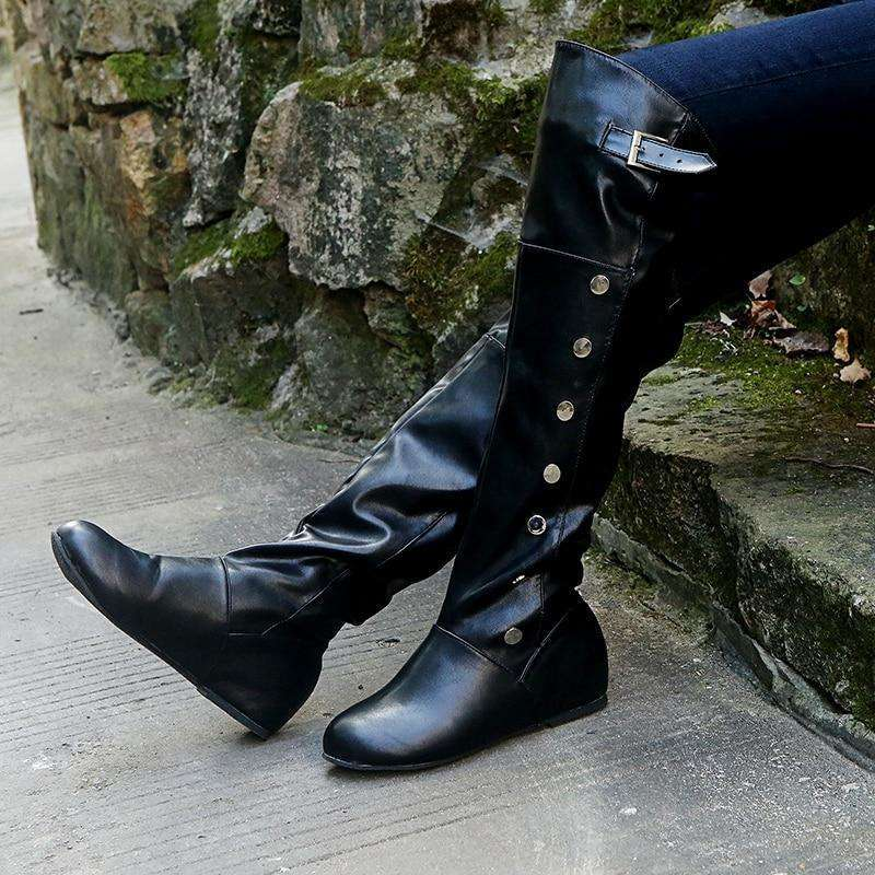 Autumn Knee-High Leather Boots