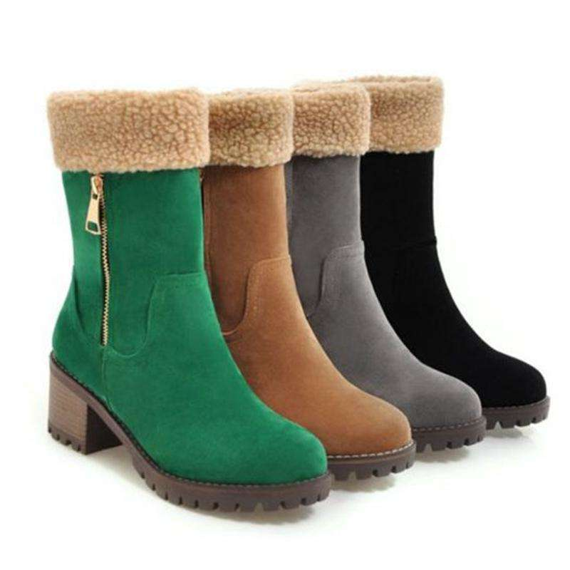 Warm Fur Ankle Winter Boots