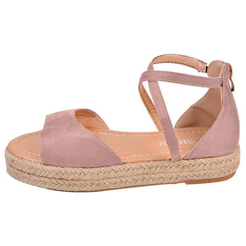 Peep Toe Design Roman Woman Flat Sandals