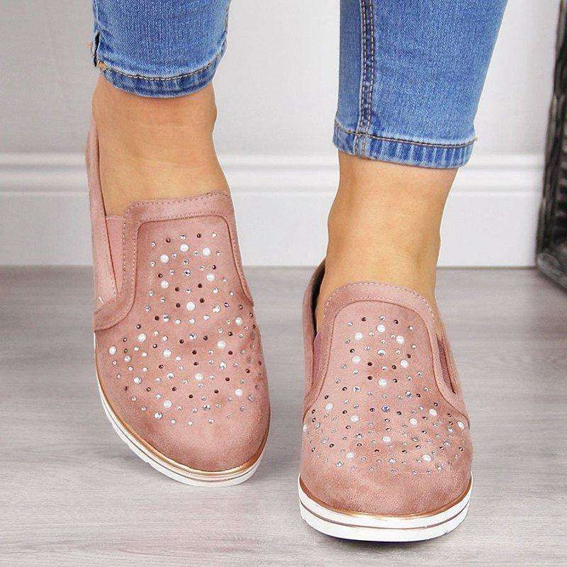 Slip On Flats Moccasins Shoes