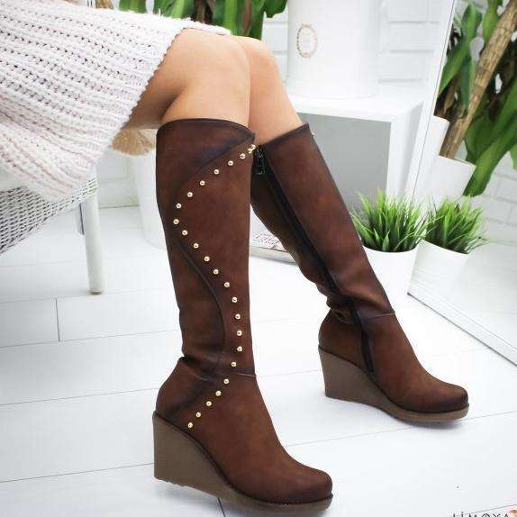 Zippers Knee-High Women Boots