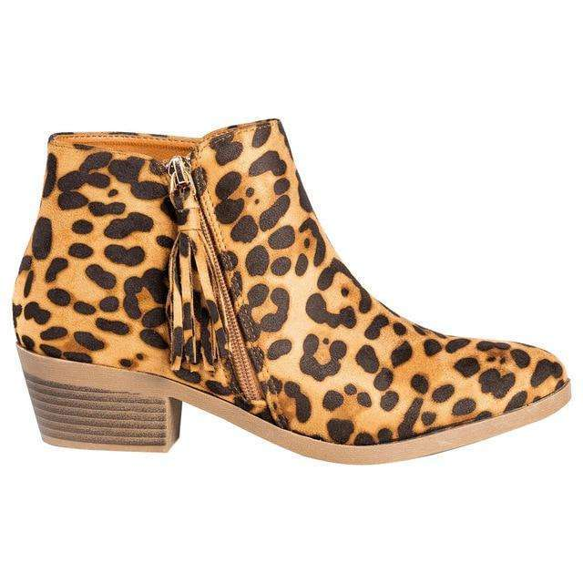 Soft Cow Leather Snake Print Boots