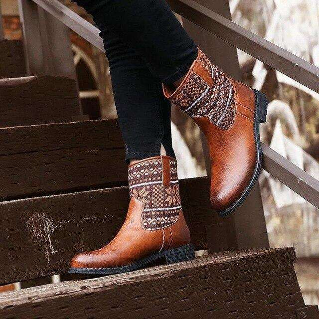 Boho Low Heel Boot