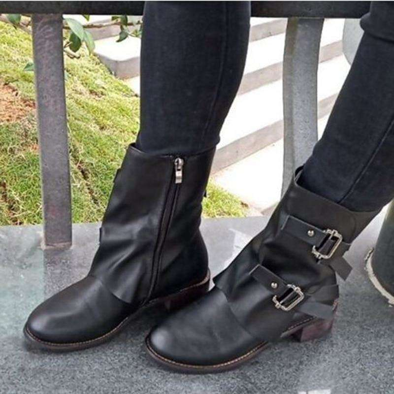 Draped Double Buckle Boot