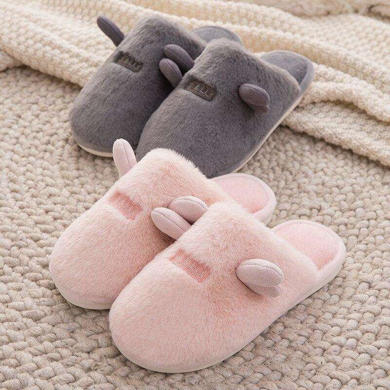 Cute Non-Slip Plush Women Slippers