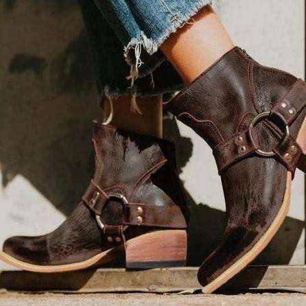Cowgirl Buckle Down Boots