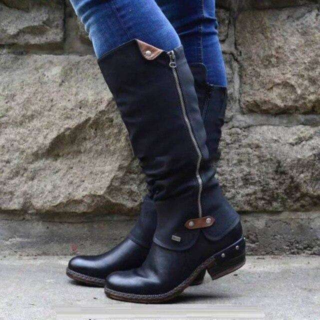 Winter Clog Buckle Boots