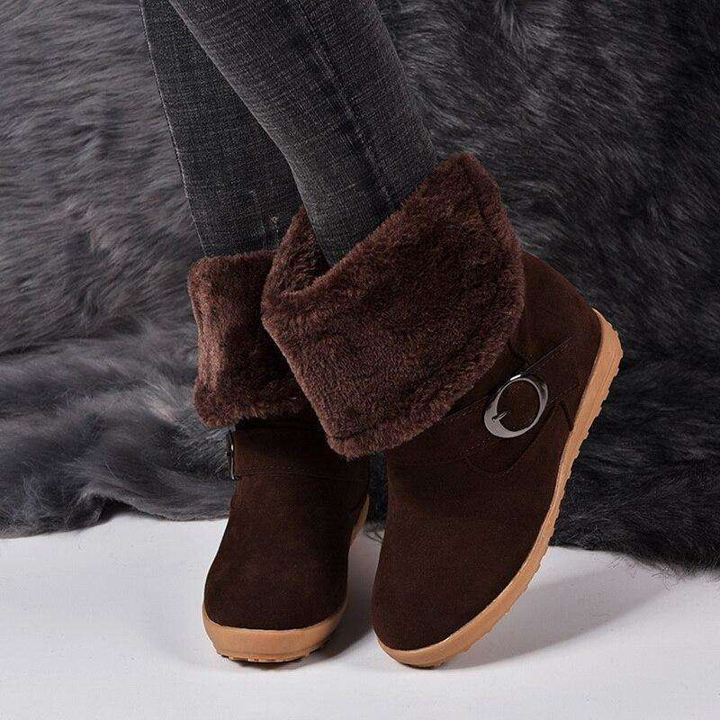 Australia Folded Furry Snow Boots