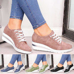 High Heel Lace Up Sneakers for Women