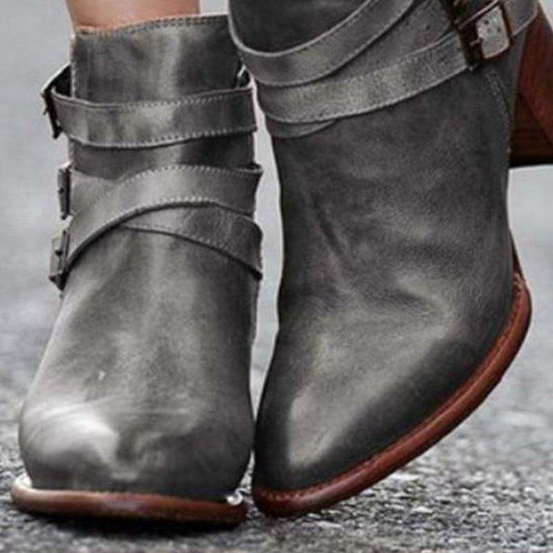 Low Heel Motorcycle Spring Boots