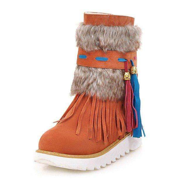 Winter Tassel Beaded Female Boots