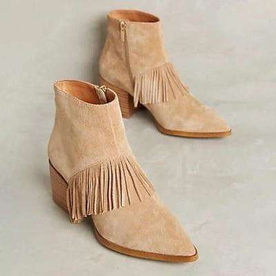 Mid Heel Suede Scrub Warm Ladies Shoes
