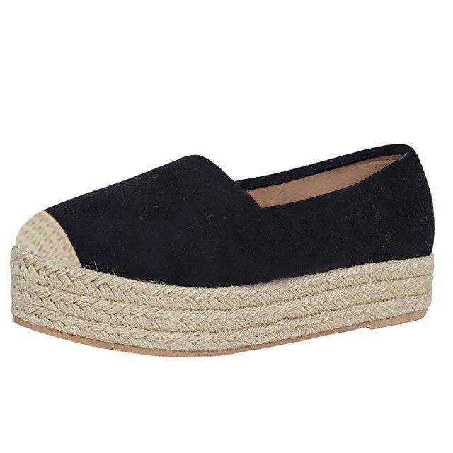 Wick Sole Round Toe Slip-On Flats