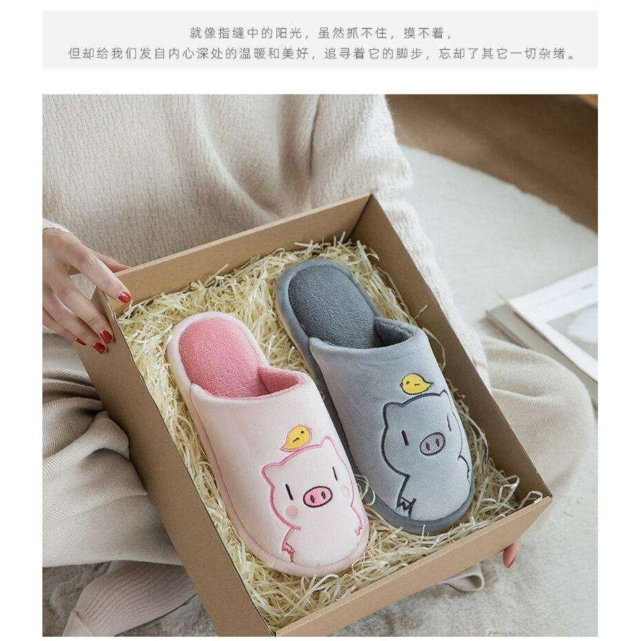 Plush Indoor House Anti-slip Soft Slippers