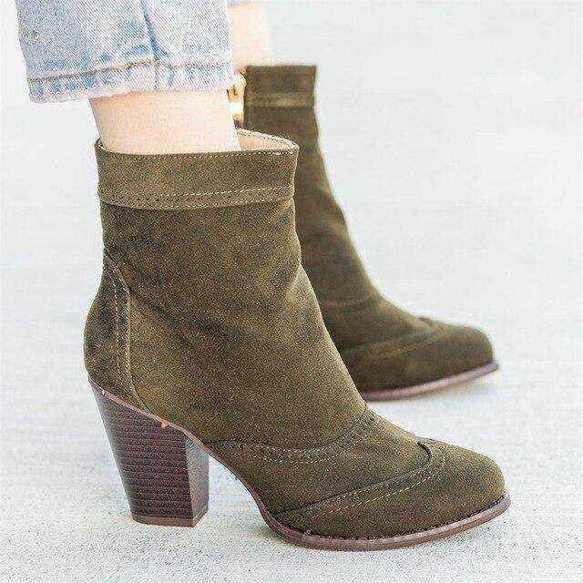 Suede Stylish Walking Booties
