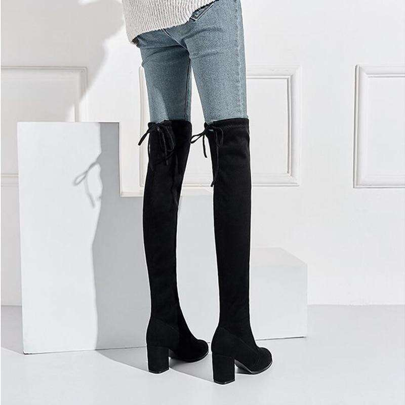 Thigh High Black Fashion Boots