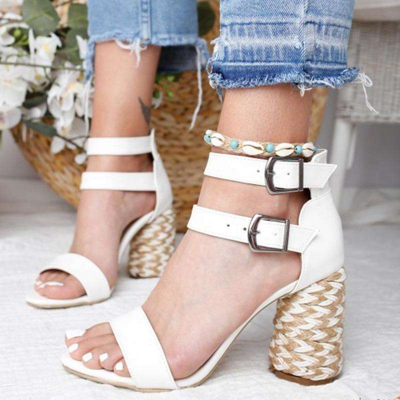 Double Buckle Wicked Heel Sandal