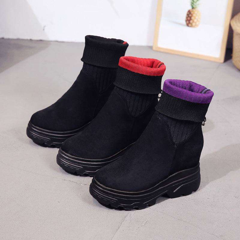 Sock Stretch Black Boots
