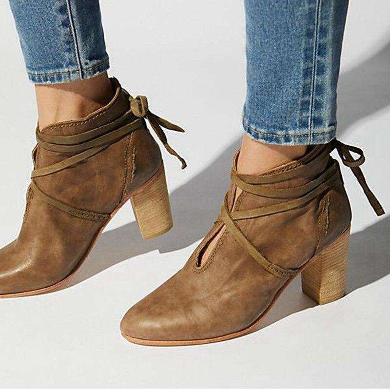 Spring Tied Autumn Women's Boots