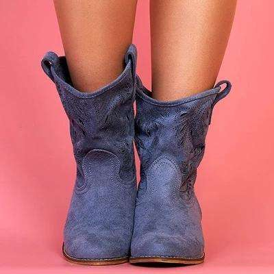 Comfy British Style Cow Boots