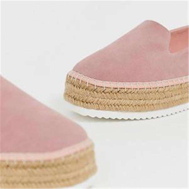 Vulcanize Faux Platform Flats Woman Shoes