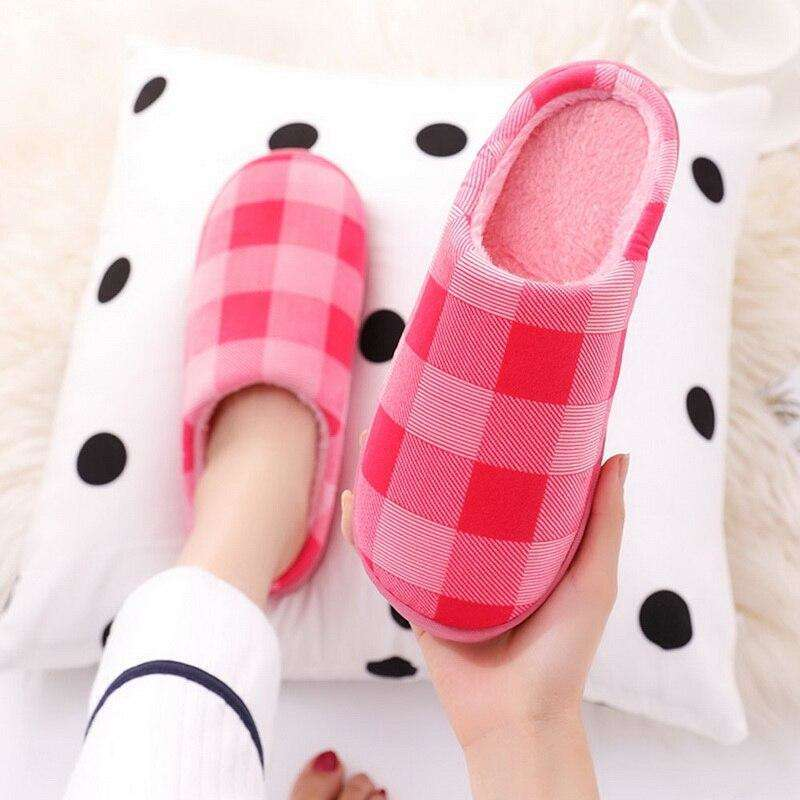Cotton-padded Lovers Home Slippers